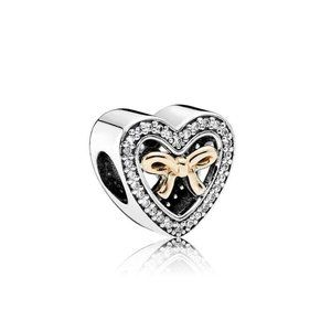 NEW Authentic Pandora Bound By Love Charm Bow Hear